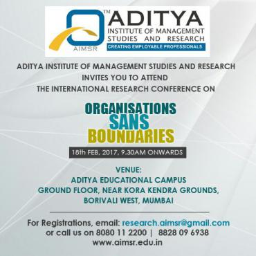 "International Research Conference on ""Organizations Sans Boundaries"